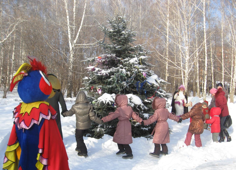 Хоровод вокруг елки дети фото